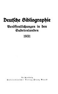 Deutsche Bibliographie Titelblatt