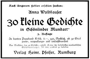 Heinrich Pfeifer Anzeige