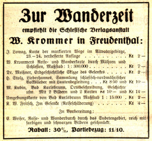 Schlesische Verlagsanstalt W Krommer Böhmische