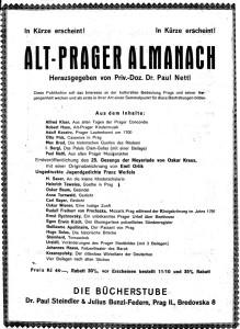 Alt Prager Almanach