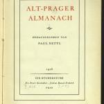 Bücherstübe Titelblatt Alt Prager Almanach 1926