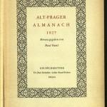 Bücherstube Titelblatt Alt Prager Almanach 1927