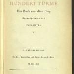 Bücherstube Titelblatt Hundert Türme