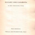 Bücherstube Titelblatt Mozart und Casanova