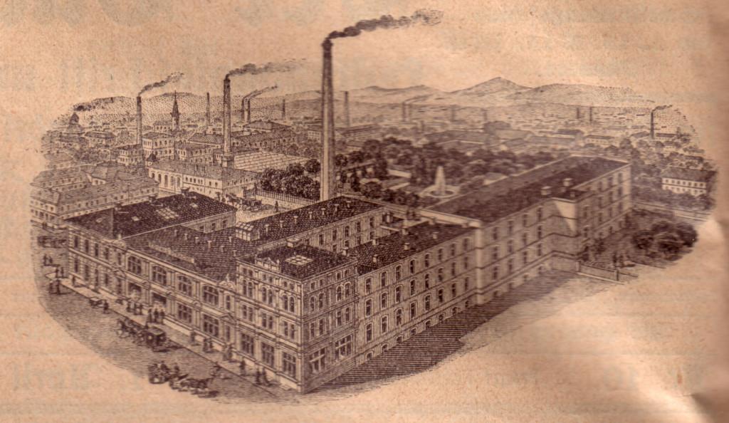Druckerei von Ed. Strache in Warnsdorf