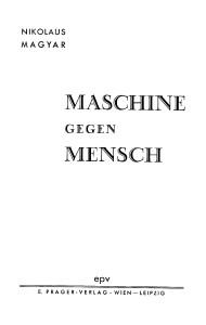 E. Prager Titelblatt Maschine