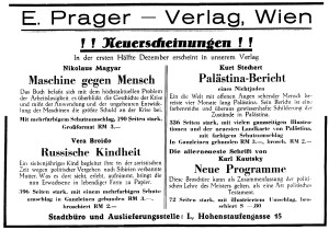 E. Prager Verlag Anzeige