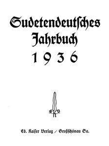 Eduard Kaiser Jahrbuch 1936
