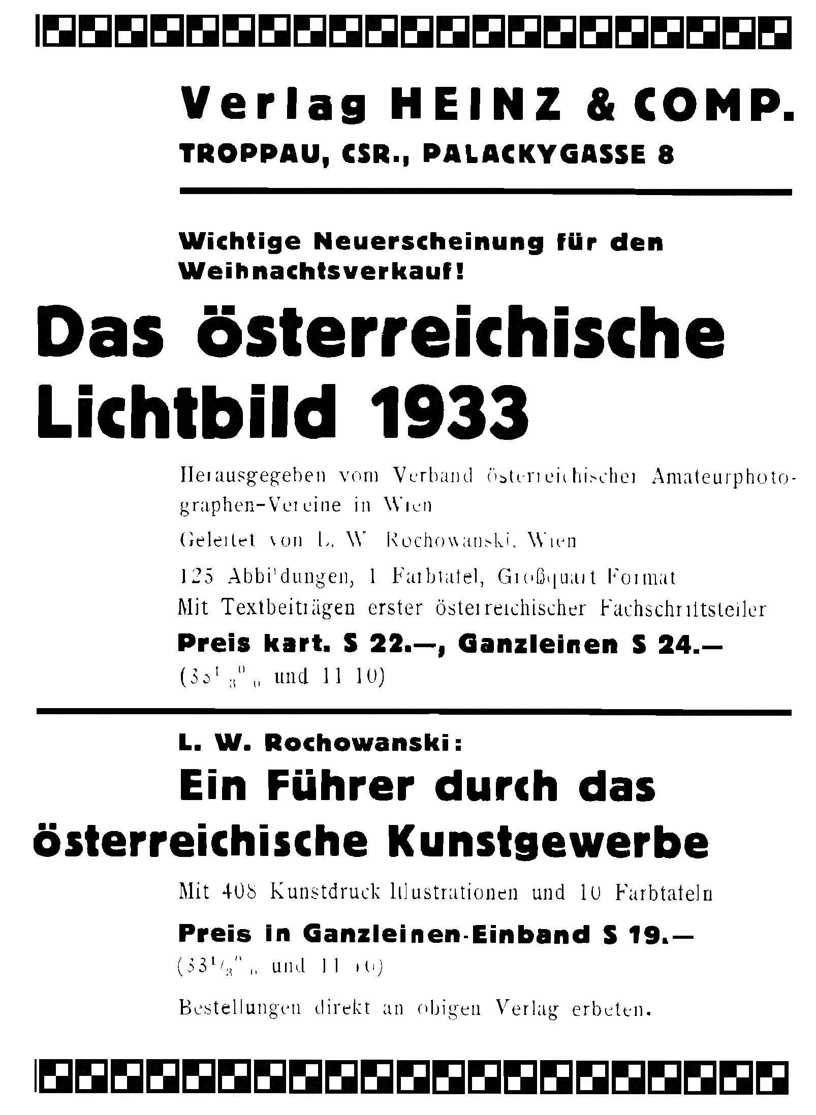 Heinz un Comp Anzeige 1933