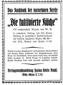 Jul. Kittls Nachfolger Kochbuch