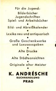 K. Andrésche Buchhandlung Anzeige 2