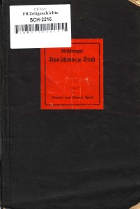 Mühlberger Das schwarze Buch Cover