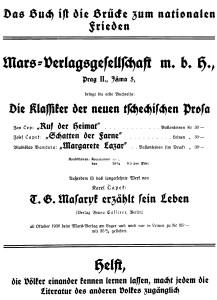 Mars Verlag Großanzeige