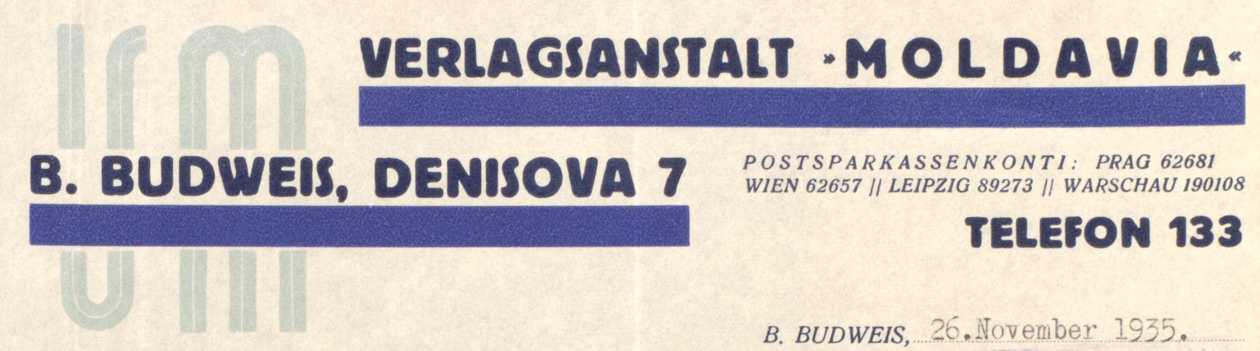Moldavia Briefkopf