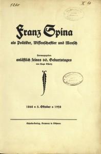 Scholle Verlag Titelblatt Spina
