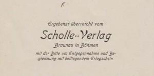 Scholle Verlag Visitenkarte