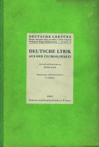 Umschlag DEUTSCHE LYRIK 1931