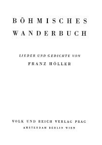 Volk und Reich Verlag Böhmisches Wanderbuch