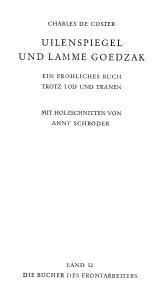 Volk und Reich Verlag Charles de Coster