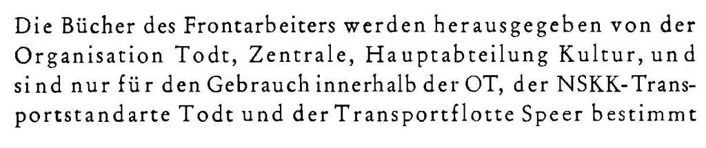 Volk und Reich Verlag Frontarbeiter