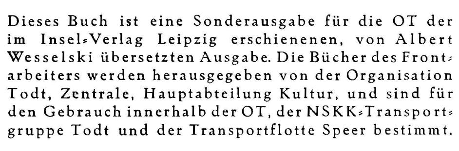 Volk und Reich Verlag Sonderausgabe OT