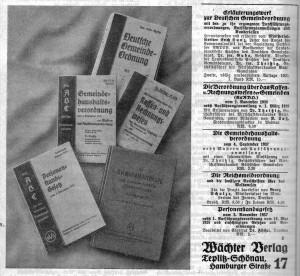 Wächter Verlag Anzeige