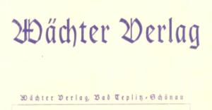 Wächter Verlag Briefkopf