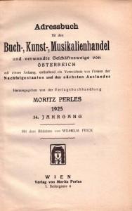 Titelblatt Perles 1925