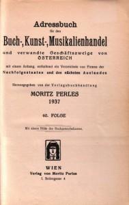 Titelseite Perles 1937